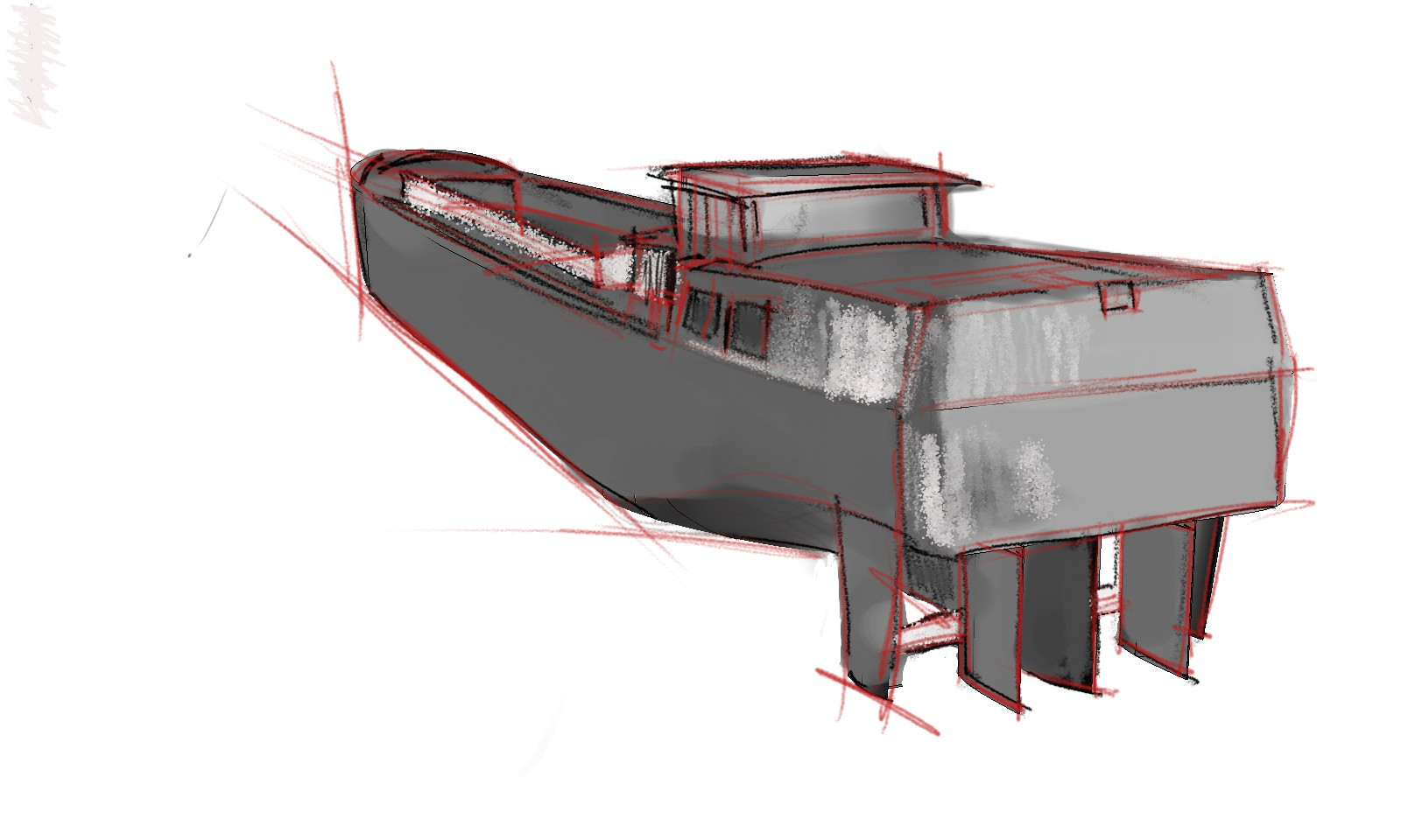 Rough sketch of the Ship